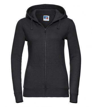 Russell Lds Authentic Zipped Hood Black XL (266F BLK XL)