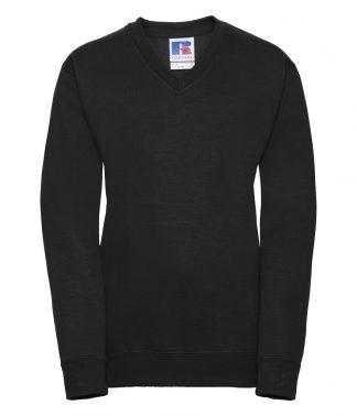 Russell Kids V Neck Sweatshirt Black 11-12 (272B BLK 11-12)
