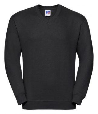 Russell Adults V Neck Sweatshirt Black XXL (272M BLK XXL)