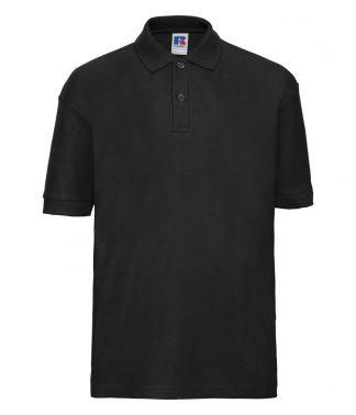 Russell Kids Pique Polo Shirt Black 11-12 (539B BLK 11-12)