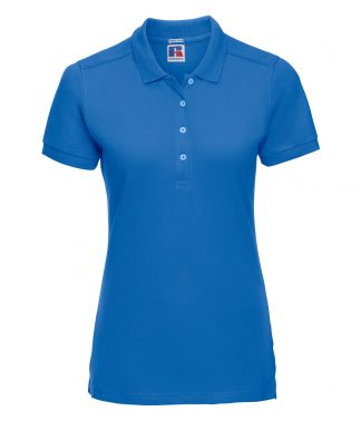 Russell Ladies Stretch Polo Shirt Azure XXL (566F AZR XXL)