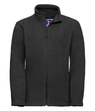 Russell Kids Full Zip Fleece Black 11-12 (870B BLK 11-12)