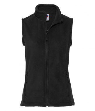 Russell Ladies Fleece Gilet Black XXL (872F BLK XXL)