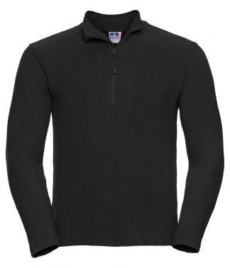 Russell Zip Neck Micro Fleece Black XXL (881M BLK XXL)