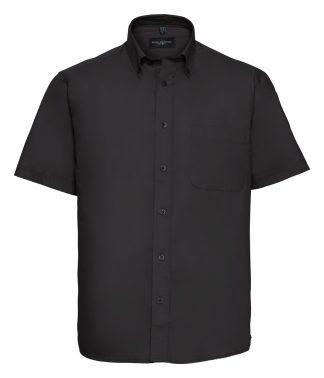 R Coll S/S Twill Casual Shirt Black 4XL (917M BLK 4XL)