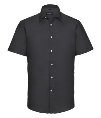 R Coll S/S Tailored Oxford Shirt Black 19.5 (923M BLK 19.5)