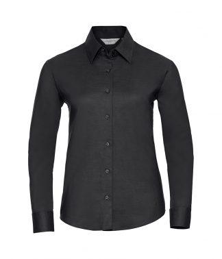 Russell Lds Oxford L/S Shirt Black 6XL (932F BLK 6XL)