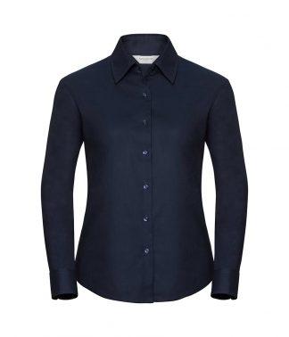 Russell Lds Oxford L/S Shirt Bright navy 6XL (932F BNV 6XL)