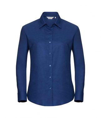 Russell Lds Oxford L/S Shirt Br.royal 6XL (932F BRO 6XL)