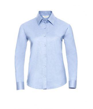 Russell Lds Oxford L/S Shirt Oxford blue 6XL (932F OXB 6XL)
