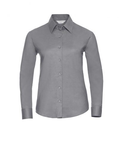 Russell Lds Oxford L/S Shirt Silver 6XL (932F SIL 6XL)