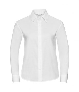Russell Lds Oxford L/S Shirt White 6XL (932F WHI 6XL)