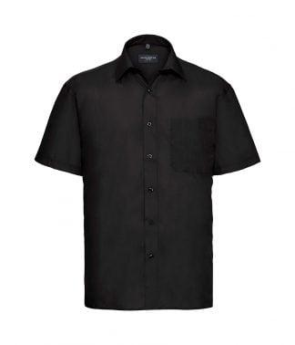 Russell Poplin S/S Shirt Black 4XL (935M BLK 4XL)