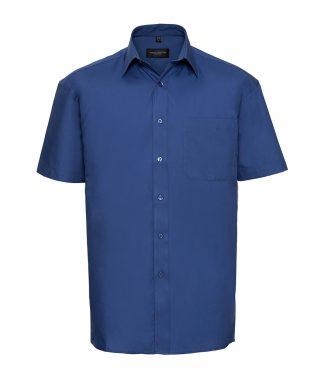 Russell Cot/Poplin S/S Shirt Aztec Blue 4XL (937M AZB 4XL)
