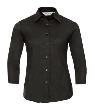 Russell Lds Ecare Fitted Shirt Black XXL18 (946F BLK XXL18)