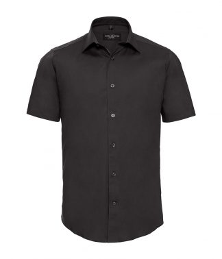 Russell S/S Ecare Fitted Shirt Black 4XL (947M BLK 4XL)