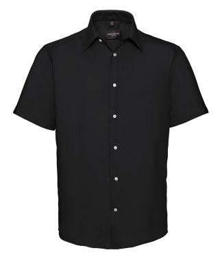 R Coll S/S Tailored Non Iron Shirt Black 19.5 (959M BLK 19.5)