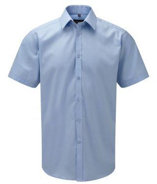 R Coll S/S Herringbone Shirt Light blue 19.5 (963M LBL 19.5)