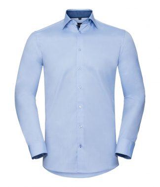 R Coll L/S Contrast Herringbone Shirt - 19.5 (964M LB/MB 19.5)