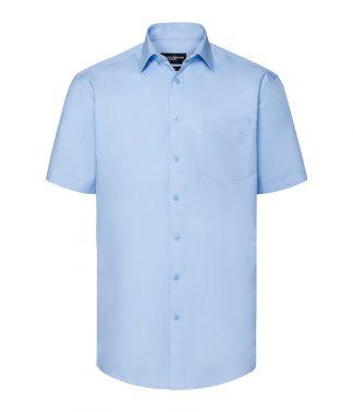 R Coll S/S Coolmax Shirt Light blue 4XL (973M LBL 4XL)
