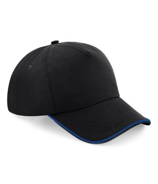 B/field Auth. Piped 5 Panel Cap Black/br royal ONE (BB25C B/BRO ONE)
