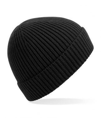 B/field Engineered Knit Ribbed Beanie Black ONE (BB380 BLK ONE)