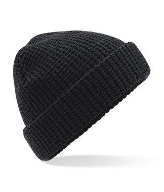 Beechfield Classic Waffle Knit Beanie Black ONE (BB422 BLK ONE)