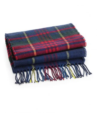 Beechfield Classic Check Scarf Blue check ONE (BB489 BCK ONE)