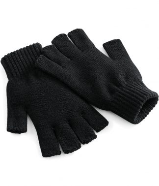 Beechfield Fingerless Gloves Black L/XL (BB491 BLK L/XL)