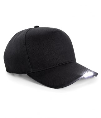 Beechfield LED Torch Cap Black ONE (BB515 BLK ONE)