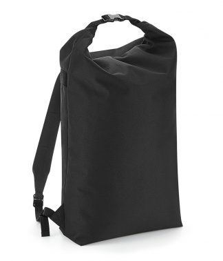BagBase Icon Roll-Top Backpack Black ONE (BG115 BLK ONE)