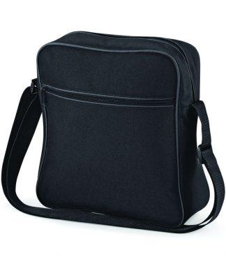BagBase Retro Flight Bag Black/graphite ONE (BG16 BK/GP ONE)