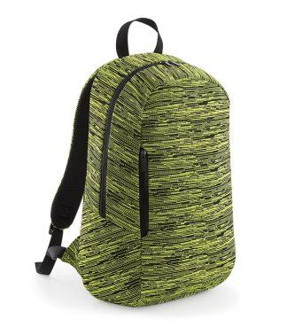 BagBase Duo Knit Backpack El. yellow/black ONE (BG198 EY/BK ONE)