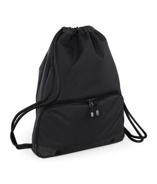 BagBase Athleisure Gymsac Black/black ONE (BG542 BK/BK ONE)