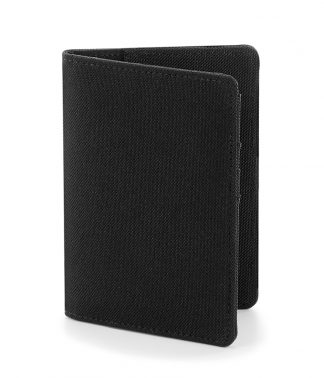 BagBase Essential Passport Cover Black ONE (BG60 BLK ONE)