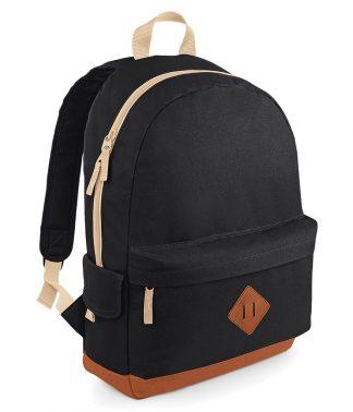 BagBase Heritage Backpack Black ONE (BG825 BLK ONE)