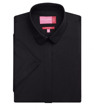 Brook Tav. Lds Soave S/S Blouse Black 20 (BK133 BLK 20)