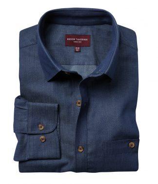 Brook Tav. Jasper L/S Shirt Denim 18 (BK584 DNM 18)