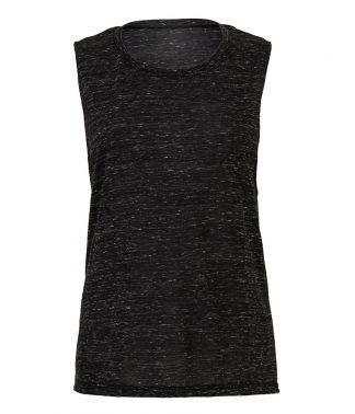 Bella Flowy Scoop Muscle Tee Black marble XL (BL8803 BKM XL)