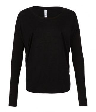 Bella Flowy 2x1 Long Sleeve Black XL (BL8852 BLK XL)