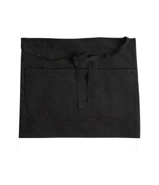 Dennys Bar Apron with Pocket Black ONE (DE123 BLK ONE)