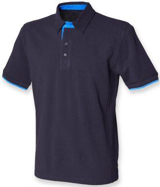 Front Row Contrast Pique Polo Shirt navy/marine XXL (FR200 NV/MR XXL)