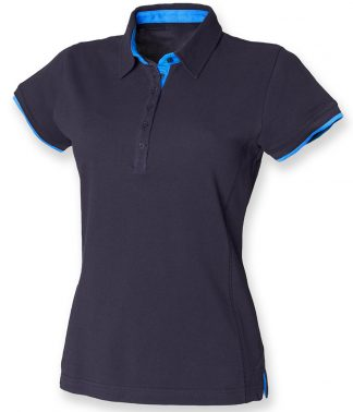Front Row Contrast Pique Polo Shirt navy/marine XXL (FR201 NV/MR XXL)