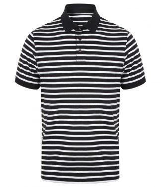 Front Row Striped Jersey Polo Navy/white XXL (FR230 NV/WH XXL)