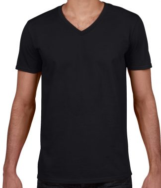Gildan SoftStyle V T Black XXL (GD10 BLK XXL)