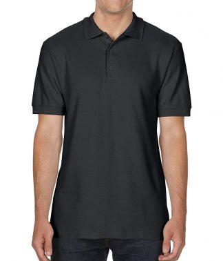 Gildan Double Pique Cotton Polo Black 3XL (GD43 BLK 3XL)