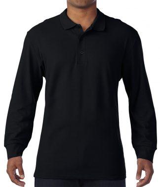 Gildan L/S Double Piq. Cotton Polo Black 3XL (GD44 BLK 3XL)