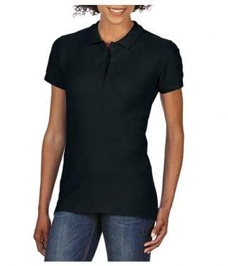 Gildan Ladies Softstyle Pique Polo Black XXL (GD75 BLK XXL)