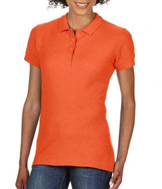 Gildan Ladies Softstyle Pique Polo Orange XXL (GD75 ORA XXL)