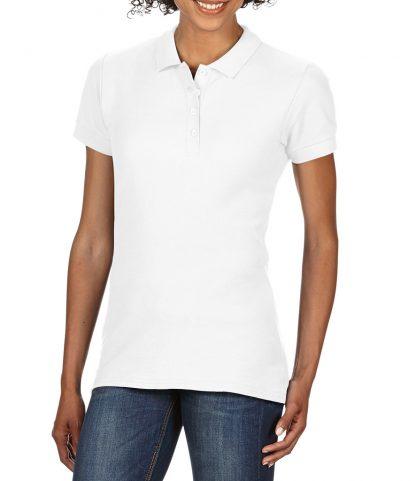 Gildan Ladies Softstyle Pique Polo White XXL (GD75 WHI XXL)
